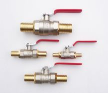 Plated Brass BALL VALVE with Solid Brass Hose Tails. Water Shut Off